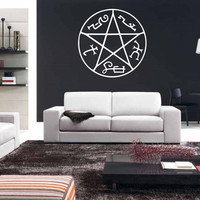 Supernatural Devil's Trap symbol wall decal PLUS two laptop decals