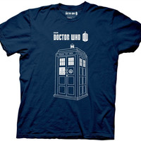 Doctor Who - Linear Tardis Blue T-Shirt