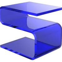 Francis Side Table, Sapphire, Acrylic / Lucite, Standard Side Tables