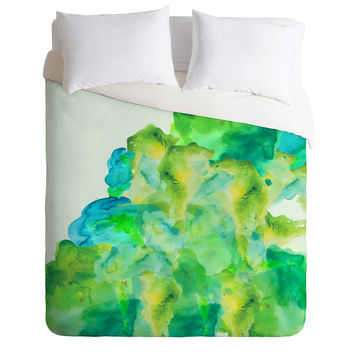 Viviana Gonzalez Watercolor love 3 Duvet Cover