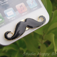 Great Gift for Him Cute Black Alloy Mustache by StudioHappyBird
