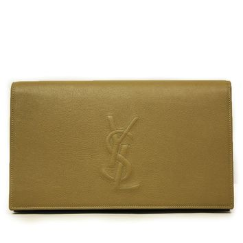 Saint Laurent YSL Belle de Jour Beige Leather Clutch Bag 361120