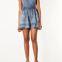 MOTO Acid Denim Flippy Dress - Denim - Clothing - Topshop USA