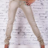 Multi Color Lace Skinny Jeans