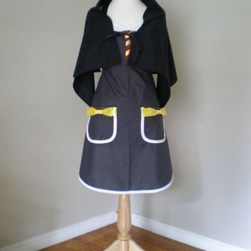 Harry Potter  inspired cosplay Costume Apron with cape