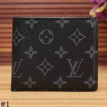 LV Louis Vuitton 2018 new limited edition short wallet wallet F-KSPJ-BBDL #1