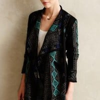 Embroidered Jacquard Cardi by Biya Black Motif