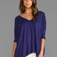 dolan Oversize Square Tee in Amethyst