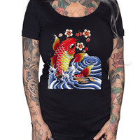 Koi Fish Scoop Neck Tee