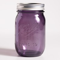 Purple Glass 1-Pint Heritage Ball Jars, Set of 6