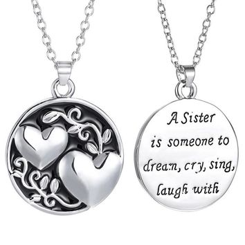 Engraved Sister Necklace