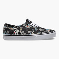 Vans Star Wars Authentic Mens Shoes Dark Side/Planet Hoth  In Sizes