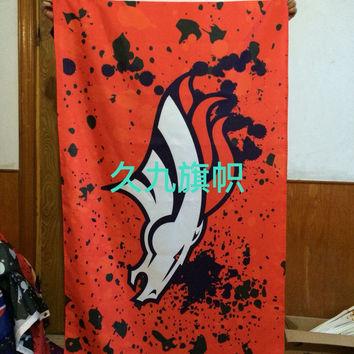 Denver Broncos NFL football team flag Four American League pennants 100D polyester high quality free shipping