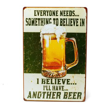 Bar Beer Iron Metal Poster Tin Sign Plate Wall Decoration Vintage Art Painting Family Rule Plaque