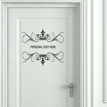Wall Mural Vinyl Decal Sticker Sign Door Frame Personalized Text Name AL275