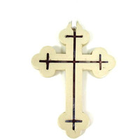 Ceramic Wall Cross, Purple Cross, Serbian Cross, Christian Nursery Art, Ukranian Cross Ornament, Confirmation Gift, Religious Ornament