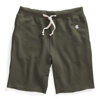 Cut Off Gym Shorts in Surplus Green