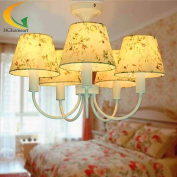 Korean restaurant bedroom living room chandelier led chandelier children girl bedroom ceiling light E27