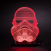 Creative 3D illusion Lamp LED Night Light Star Wars White Knight Acrylic Colorful Gradient Atmosphere Lamp Novelty Lighting
