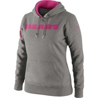 Nike Chicago Bears Ladies Breast Cancer Awareness Tailgater Pullover Hoodie Sweatshirt - Ash