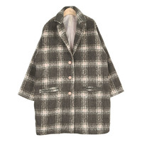 3-Buttoned Boxy Check Coat