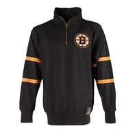 Old Time Hockey Boston Bruins Rivera 1/4-Zip Top