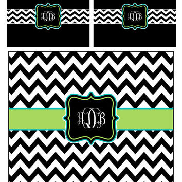 Custom Personalized Chevron  Duvet Cover and coordinated shams- Available Twin, QUEEN  or King size- Available ANY colors
