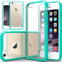 iPhone 6 Case, Caseology [Fusion Clear] Apple iPhone 6 Case [Turquoise Mint] Scratch-Resistant Clear Slim Fit Cover with Shock Absorbent TPU Hybrid Bumper Protection iPhone 6 Case [Made in Korea] (for Apple iPhone 6 Verizon, AT&T Sprint, T-mobile, Unlocked