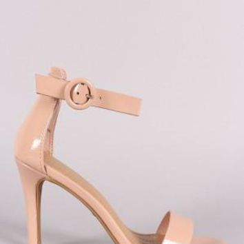 Patent Ankle Strap Single Sole Heel