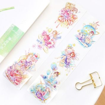 5 pcs/lot DIY Cartoon Paper Washi Masking Tapes Delicious fairy tales decorative adhesive tape stickers/School Supplies 50mm*6M