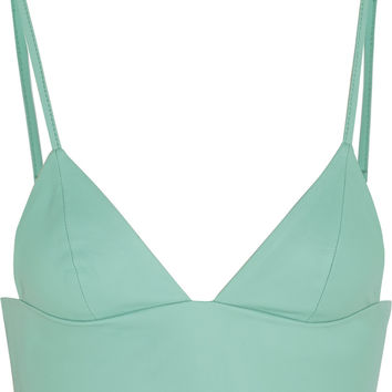 Leather bra top   T by Alexander Wang   US   THE OUTNET