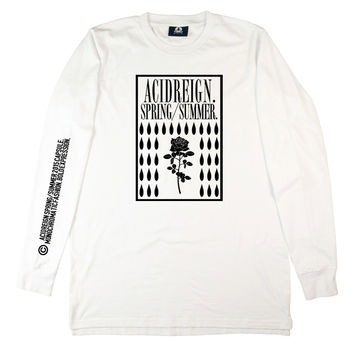 WHITE  SS15 LONG SLEEVE
