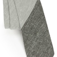 Topman - Chambray Woven Tie, Light Grey
