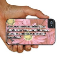 "iPhone 4/4s BruteBoxTM Case - Bridesmaids Movie Quote - ""You are more beautiful than Cinderella..."" - 2 Part Rubber and Plastic Protective Case"