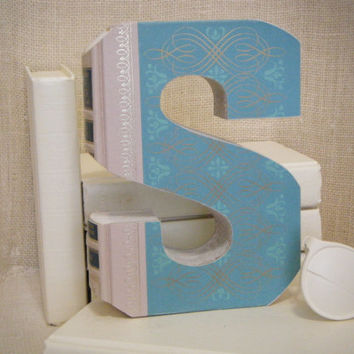 BOOK LETTER (S) Anthropologie Inspired Books, Book Art, Cut Book Letters, Unique Engagement Gift, Book Cut Out, Home Decor, Unique Baby Gift