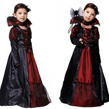 Cool halloween costume for kids baby girls children vampire witch costume girl cosplay Carnival Party princess fancy dress fantasiaAT_93_12