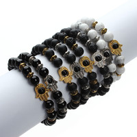 Xinyao Trendy Semi-precious Stone Gold Plated Rope Chain Men