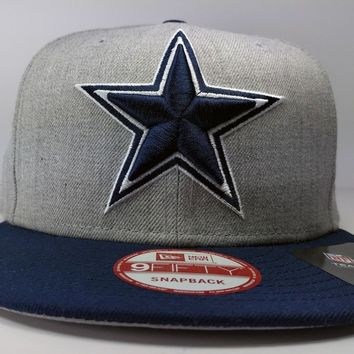Dallas Cowboys 9Fifty Grand Logo Redux Field Gray Adjustable Snapback Hat NFL
