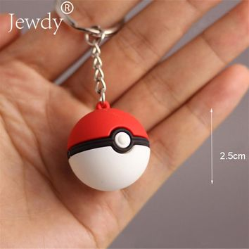 3D Anime Pokemon Go Key Ring Poke Ball Keychain Pocket Monsters Key Holder Pendant Mini Charmander Squirtle Bulbasaur Figure Toy