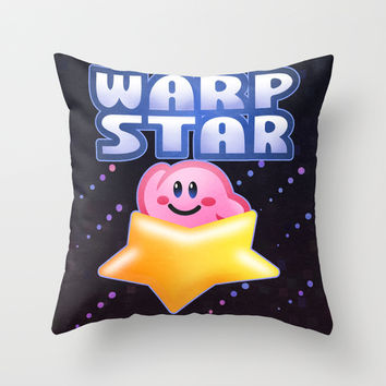 Warp Star Throw Pillow by Likelikes
