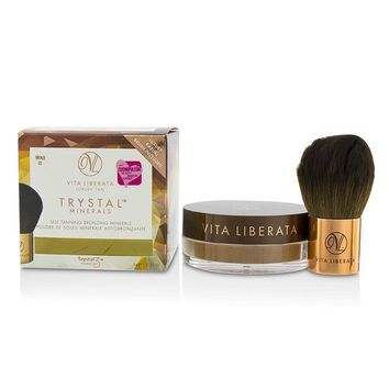 Trystal Minerals Self Tanning Bronzing Minerals With Kabuki Brush - # 02 Bronze - 9g-0.32oz