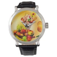 SUMMER FRUIT,ICE CREAM AND ORANGE JUICE WATCH