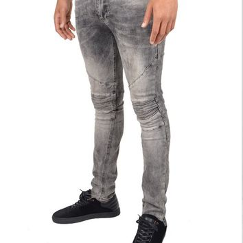 RELIGION CLOTHINGCRYPT BIKER JEANS - GREY