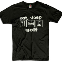 Eat, Sleep Golf Men Women Ladies Funny Joke Geek Clothes T shirt Tee Gift Present