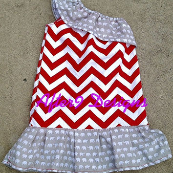 Dress one shoulder ruffle neck Alabama by AfterNineDesigns on Etsy