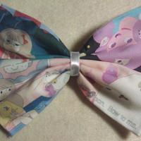 Bee and Puppycat fabric hair bow