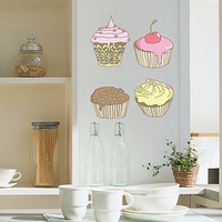 cup cakes wall sticker  by nubie modern kids boutique | notonthehighstreet.com