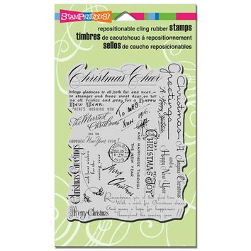 Christmas Background Clear Stamp [CRR144]