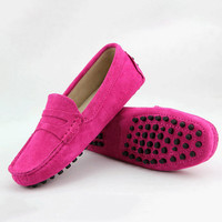 Women's Leather Flat Shoes, Casual Loafers