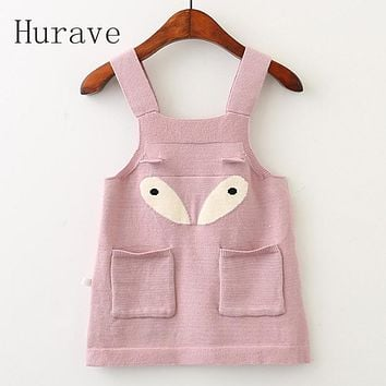 Girls Dress Kids Eye Dress New Autumn Baby Sweater Printed Dresses